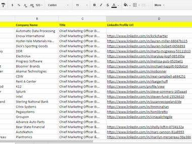 Linkedin email listing