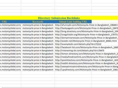 Directory Submission Backlinks