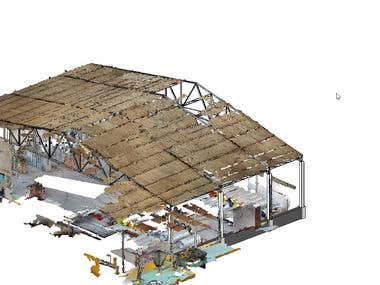 Structural model from point cloud
