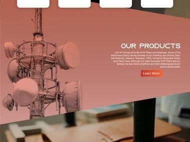 JagElectromagnetics.com webpage design