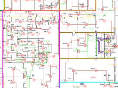 Fire alarm sistem and LAN for Medicaments Factory