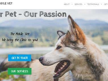 Website for a Veterinary Clinic (incl. Content)