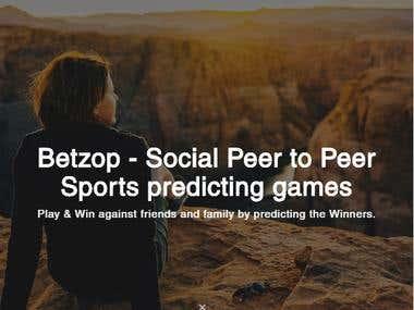 Sport Betting Web application - Betzop