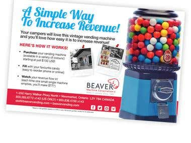 Ad design for vending company