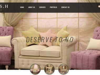 Interiors Design Website