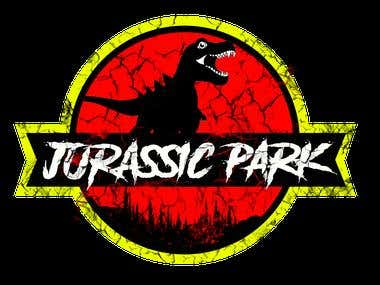 Logo design for jurassic park