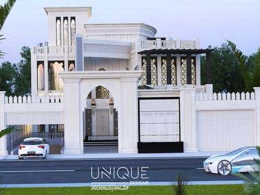 Design of a villa in the Arabic style