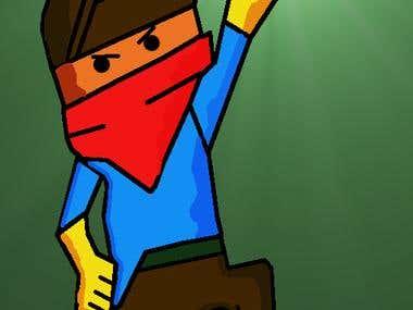 2D Pixel Art Explorer Character
