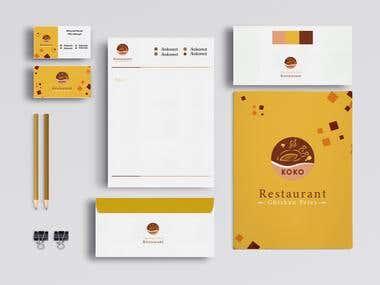 Koko Restaurant Stationary
