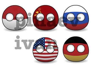 Countryballs 2D Flash Animation