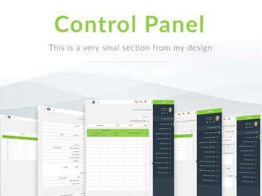 Control panel UI Design for