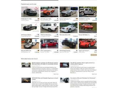 Luxury Car Website development