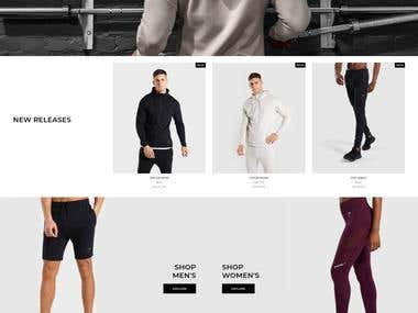 Gymnasium(GYM) Website development.