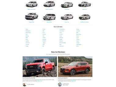 Car selling website development