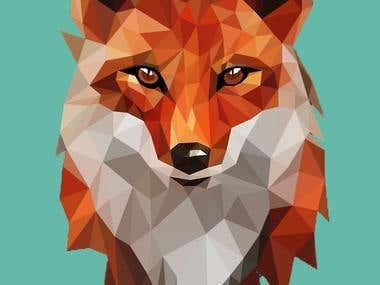 Low poly illustration