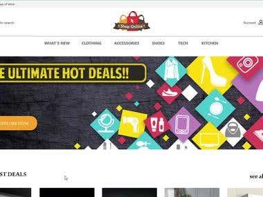 online shop mockup design