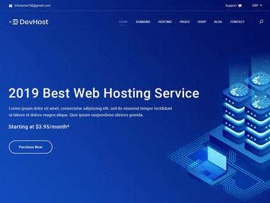 Devhost - Domain and Hosting PSD Template