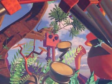HTC Vive, Localtion-based VR Drumming Experience, Unity 3D