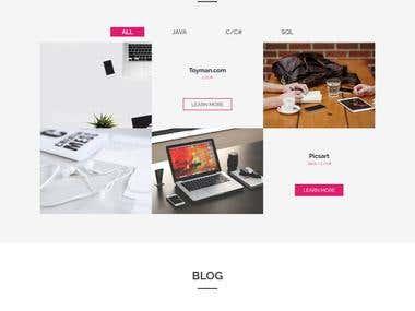 A portfolio website for software developer