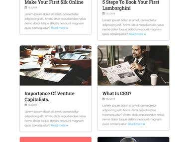 financial blog landing page