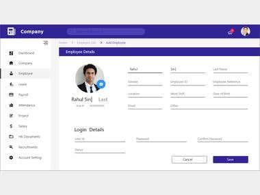 Add Employee Page | Web UI