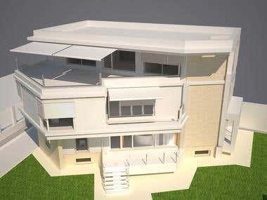 3D render of housing