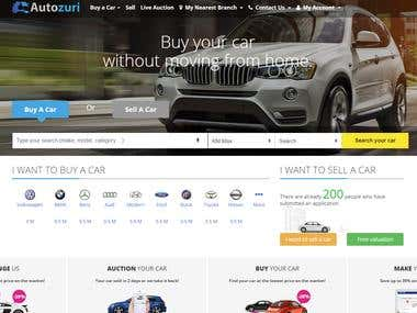 Autozuri Auction Website