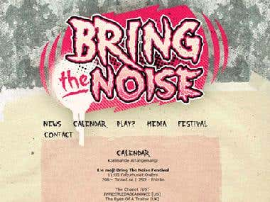 Bring the Noise - PHP website