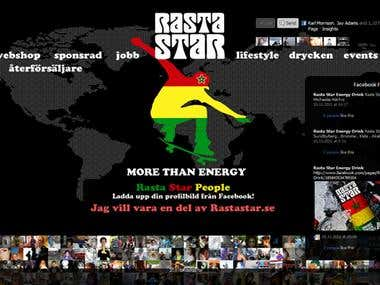 Rasta Star Energy Drink - PHP/AJAX/jQuery/Webshop IT consult