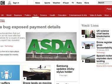 BBC Website Clone