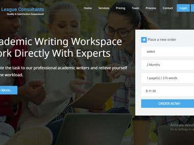 Ivycons - Writing Services Website
