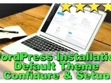 I Will Installation Setup Wordpres Experts
