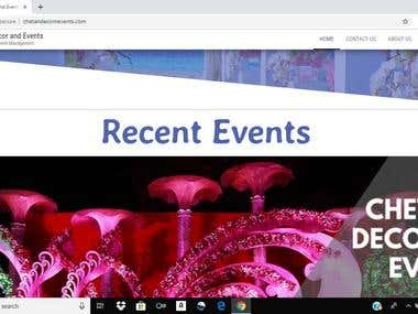 Event & Decoration site