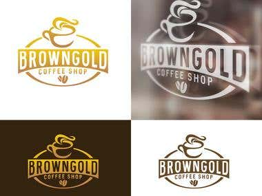 """Brand Design For """" Brown Gold """" Coffee Company"""