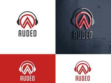 """Brand Design For """" Audeo """" Company"""