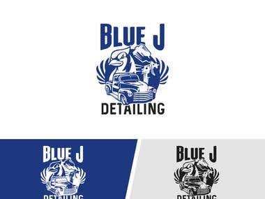 """Logo Design For """" Blue J """" Comapny"""
