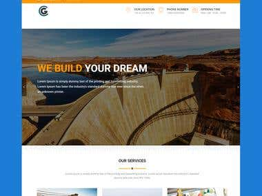 Construction Company front-end design