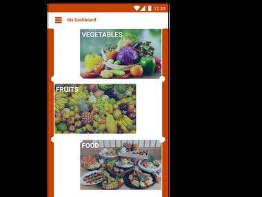 Android App to buy vegetables, fruits and foods online