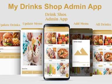 Drink Shop Admin App