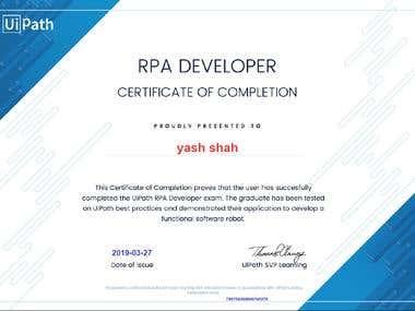 Uipath Certificate