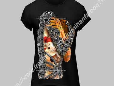3D Skull T-shirt Design