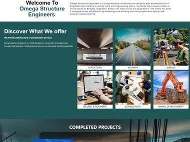 Website Development for a Small construction company