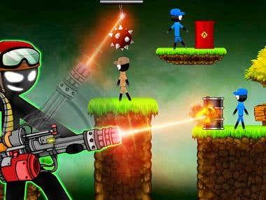 Stickman vs Stickmen Games : Shotgun Shooting