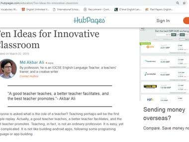 Ten Ideas for Innovative Classroom
