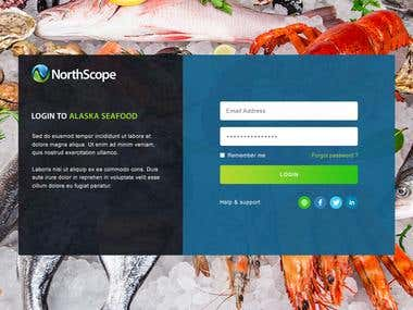 Login Page for NorthScope