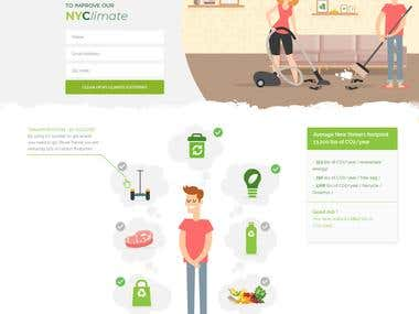 Modern Landing Page for NYC Climate Week Challenge 2018