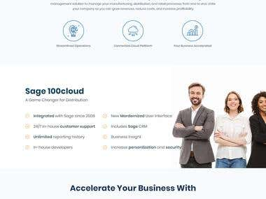 Biz-Tech Landing Page Design