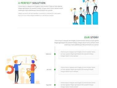 Upschool Landing page design