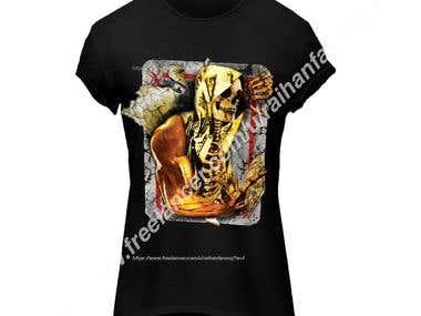 T-shirt(3D skull design)