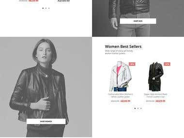 E commerce web for client